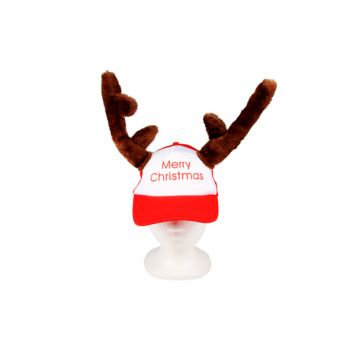 Cosy @ Home Cap Reindeer Merry Christmas Red Adult