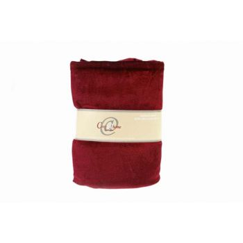 Cosy @ Home Deco Fabric 3x1,5m Velvet Burgundy