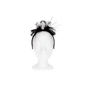 Cosy @ Home Black Diadem With Skull