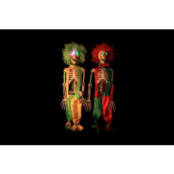 Cosy @ Home Skeleton Clown Red Green Led 2 Types 75cm