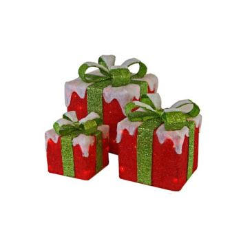 Cosy @ Home Sisal 3 Giftboxes Red Green Bow 75l