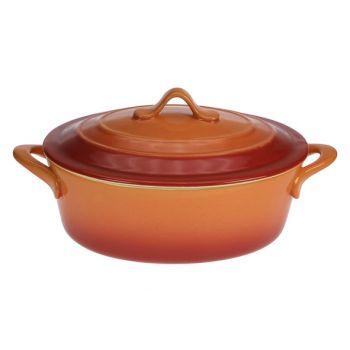 Cosy & Trendy Orange Ovendish Oval With Lid 24,5x20x9