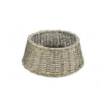 Cosy @ Home Treestand Basket Wicker Grau D45cm H18cm