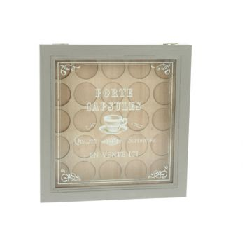 Cosy & Trendy Wooden Capsule Box W/glass Cover 25x26cm