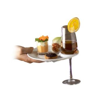 Cosy & Trendy Reception Plate D19cm+notch For Glass