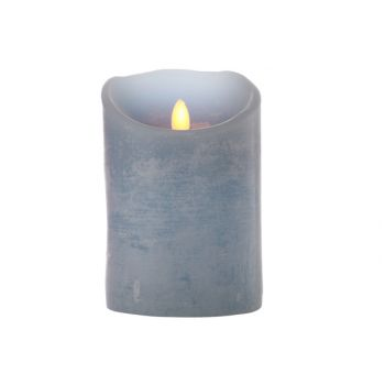 Cosy @ Home Pillar Candle Led Blue D10xh15cm