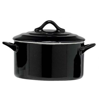 Cosy & Trendy Black Casserole With Lid 0,5l D12,5xh7cm
