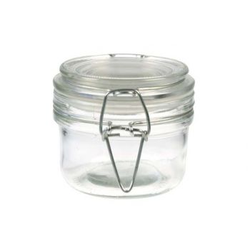 Cosy & Trendy Jar Glass + Clip Round D8,5xh7cm - 18cl