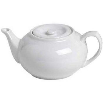 Cosy & Trendy Teapot Porcelain White 21xh9,5cm 750ml