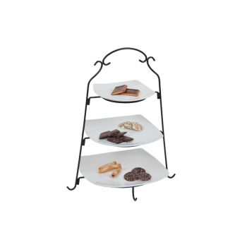Cosy & Trendy Plate Tower Black With 3 Plate White