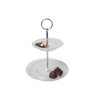 Cosy & Trendy Retro Plate Tower 2 Levels D13-18xh23.5