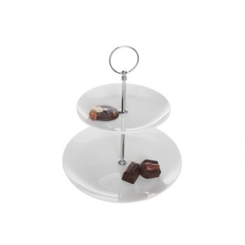 Cosy & Trendy Cake Stand White 2 Levels D16-d21xh24cm