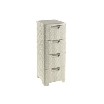 Curver Natural Style Drawer System 4 Drawers
