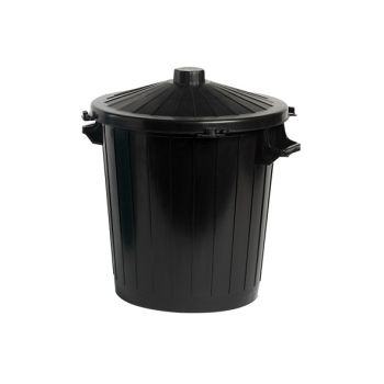 Cosy & Trendy Waste Bin With Lid Black 80l 62x54xh72cm