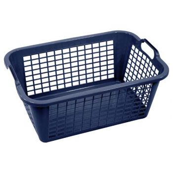 Cosy & Trendy Washing Basket Dark Blue 60cm