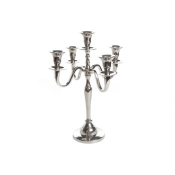 Cosy @ Home Candle Holder 5l - H34cm Alu-nick