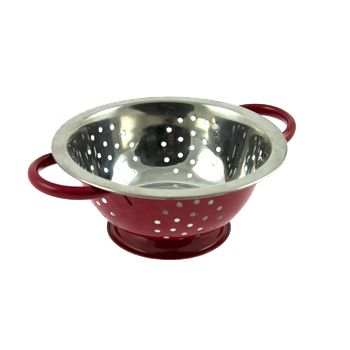 Cosy & Trendy Colander Stainless Steel D24xh9,5cm Red