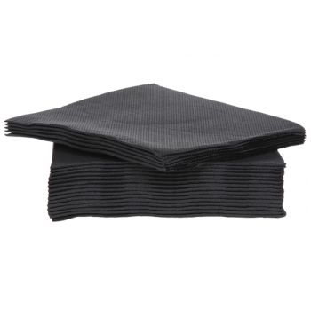 Cosy & Trendy For Professionals Ct Prof Napkin Tt S40 25x25cm Noir