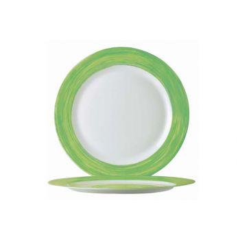 Arcoroc Brush Green Bread Plate 155