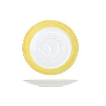 Arcoroc Brush Saucer Yellow 14cm