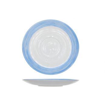 Arcoroc Brush Saucer Blue 14cm