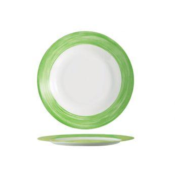 Arcoroc Brush Flat Plate Green 23,5cm