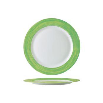 Arcoroc Brush Dessert Plate Green 19cm