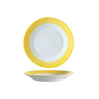 Arcoroc Brush Yellow Soup Plate 22,5cm