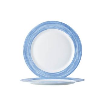 Arcoroc Brush Blue Dessert Plate 19cm