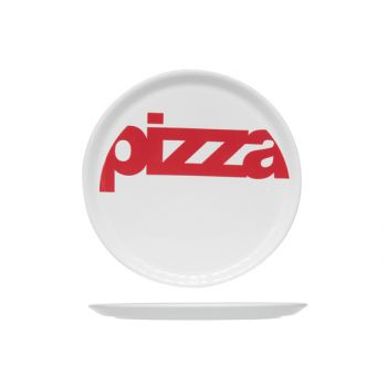 Cosy & Trendy Pizzaplate White 'pizza' Red D29cm