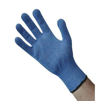 Blauwe snijbestendige handschoen L