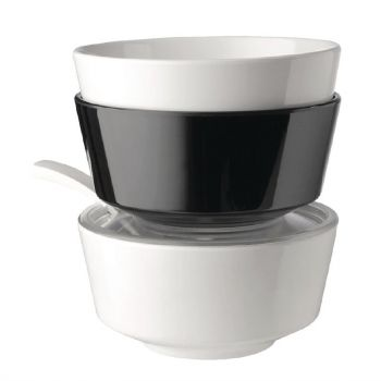 APS Float ronde melamine kom zwart 20.5cm