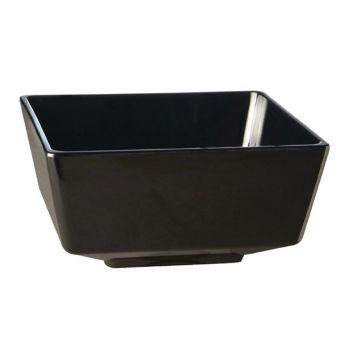 APS Float vierkante melamine kom zwart 9x9cm