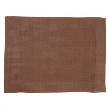 Olympia PVC geweven placemats bruin