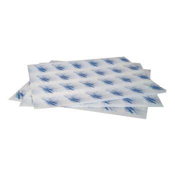Vetvrij hamburger papier blauw