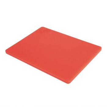 Hygiplas LDPE snijplank rood 30.5x22.9x1.2cm