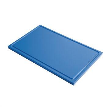 Gastro M GN1/1 HDPE snijplank met sapgeul blauw