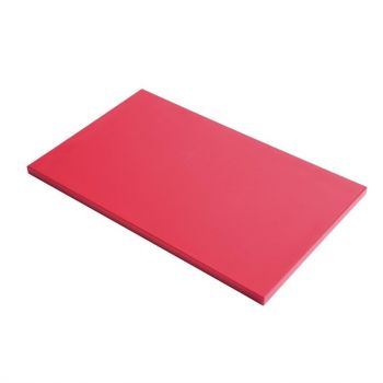 Gastro M GN1/1 HDPE snijplank glad rood
