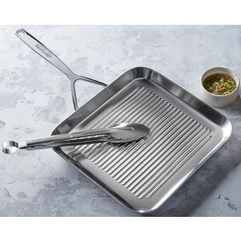 Demeyere 50728NP Intense Grill pan 28cm with serving tongs