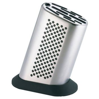 Global G888D Knife Block Stainless Steel/Dots 8 Slots