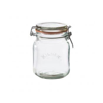 Kilner Square Jar With Buckle Closure 1l RAY-0025-511