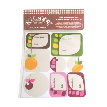 Kilner 0025-422 label Fruit Blossom set of 24 pieces
