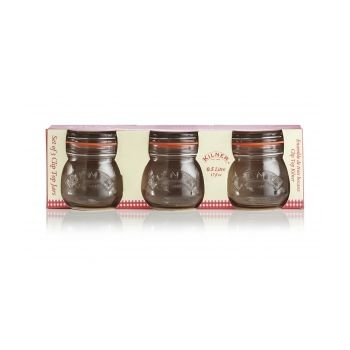 KILNER RAY-0025-484 Round cliptop jar 0,5L Setof 3pcs