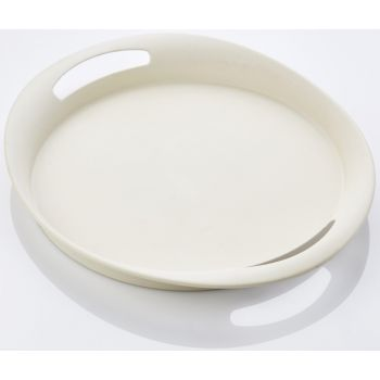 Bamboo Fiber Serving Tray white 45x39x4.7cm