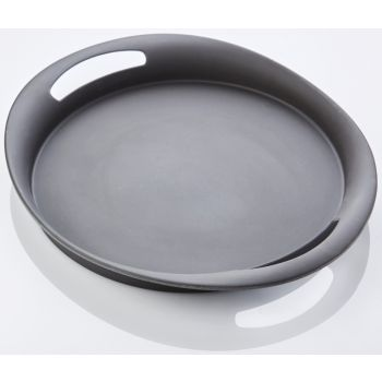 Bamboo Fiber Serving Tray dark grey 45x39x4.7cm