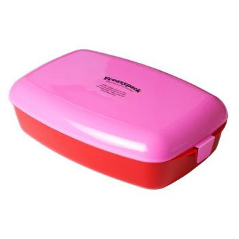 Frozzypack rose lunchbox with cooling element 24x15x8cm 1,2L