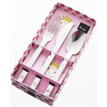 Kids cutlery set 3 pieces Happy Face
