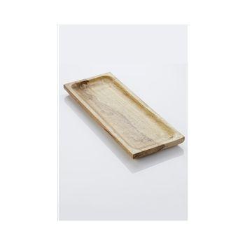 Point-Virgule PV-LIV-4011 Plate Rectangular Mango Wood