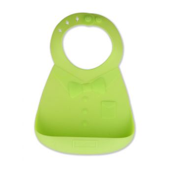 Make My Day Baby Bib Silicone Green