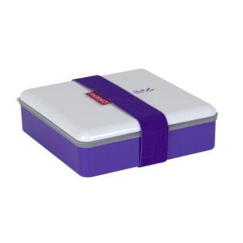 Omami purple lunchbox 15x15x4,6cm
